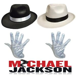 MICHAEL-JACKSON-SMOOTH-CRIMINAL-HAT-amp-SEQUIN-GLOVE-POP-MUSIC-FANCY-DRESS