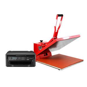 Heat-Press-Machine-Clam-50x-50cm-T-Shirt-Transfer-Sublimation-Print-Flat-Vinyl
