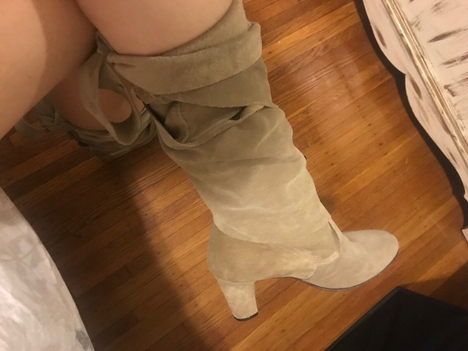 CALYPSO MADE IN ITALY TAN SUEDE WRAP BOOTS SIZE 37 UNIQUE 9 VIDEO