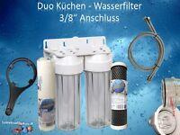 10 Duo Wasserfilter Küchenfilter Küchenwasserfilter Aktivkolefilter Sedimentfil