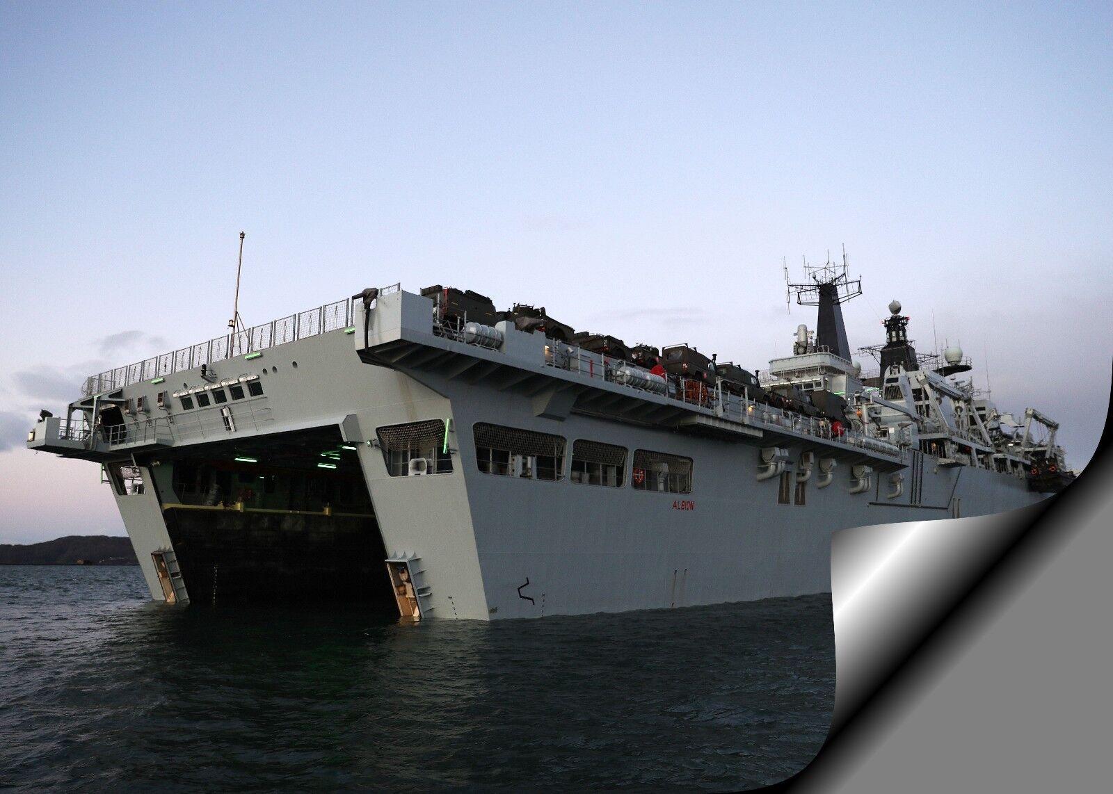HMS ALBION ASSAULT SHIP     Photo Picture Print