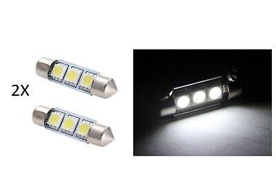 2 LUCI LAMPADA LED BLU T4.7 SMD 5050 lampadina auto luce abitacolo cruscotto