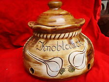 Bunzlauer Keramik Knoblauch Knoblauchtopf Unikat Handarbeit weißer Ton