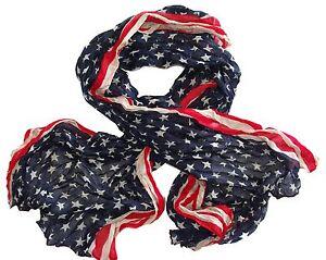 Foulard Etats Unis - Amérique - Drapeau Américain - Etoiles - Bleu ... 9bb23c119fe