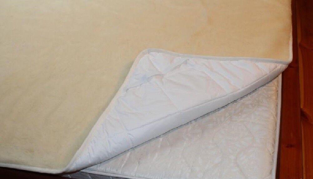 100x200 cm Matratzenschoner Wolle Matratzenauflage Unterbett Wollunterbett