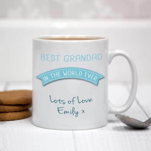 Personnalisé blanc mug céramique-meilleur grand-père dans le monde