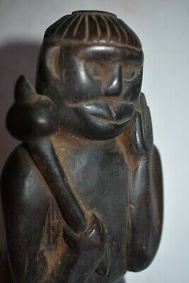 Other Asian Antiques Learned Orig Nepal/tibet Shaman Hanuman Figur Frühzeitig 1900s 10in Prov
