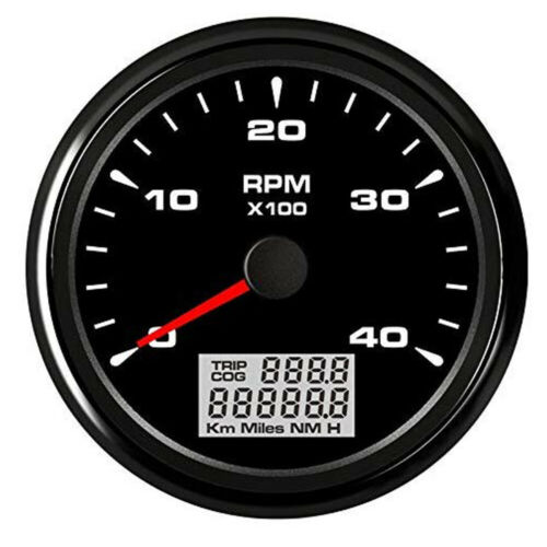 85mm 7 Colors 4000 RPM Marine Boat Car Tachometer Indicator With LED Hourmeter