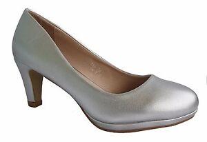 Zapatos de Novia Noche Tacón Plata con un Pequeño Tacón S-116
