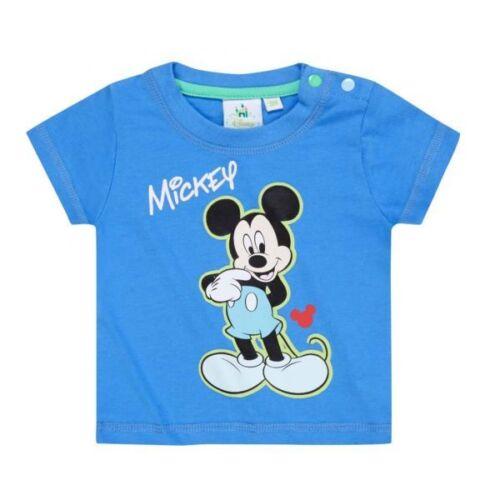 blau Disney Mickey Tshirt Gr 62-92