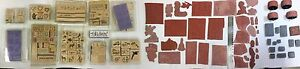 Stampin Up Huge Stamp Lot Rare/Retired new and used 136 stamps total