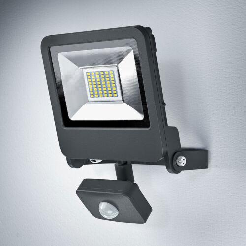 Osram LED Fluter Strahler Endura Flood Sensor 30W dunkelgrau warmweiß 3000K IP44