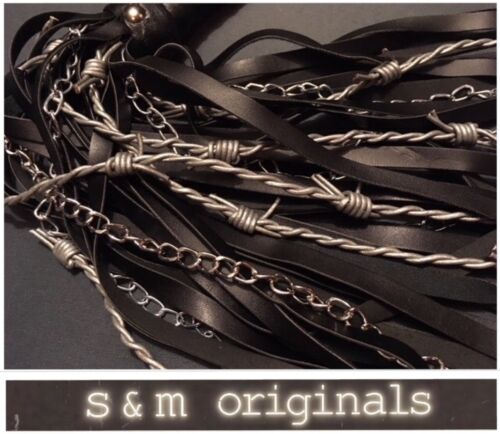 Flogger whip barb CAT-O-NINE Tails role play fancy dress S.M Originals........