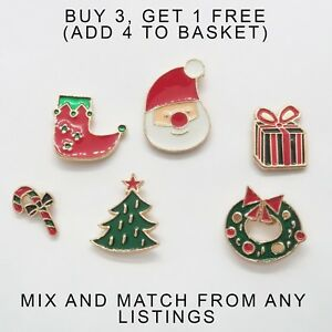 120197a518f27 Details about UK Christmas Festive Fashion Enamel Pins. Cartoon Pin Badge  Brooch Mixed Set