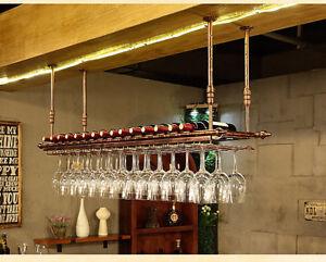 80x35CM Fashion Bar Wine Glass Hanger Bottle Holder Hanging Rack Organizer Shelf