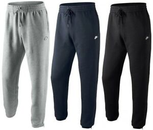 New Men/'s Nike Logo Fleece Joggers Tracksuit Bottoms Track Sweat Jogging Pants