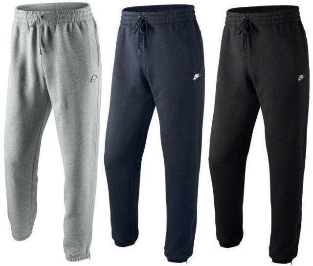 New Mens Nike Logo Fleece Joggers, Tracksuit Bottoms, Track Sweat Jogging  Pants