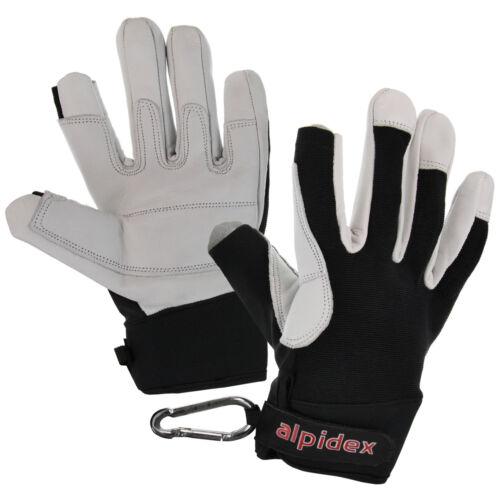 Bekleidung Klettersteighandschuhe unisex Echtleder Klettersteig Handschuhe