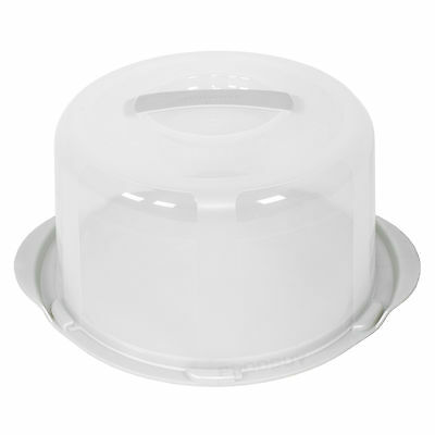 2 x Plastic Cake Transporters//Storage Caddies with Handles
