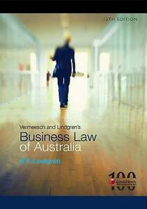 Vermeesch and Lindgren's Business Law of Australia by K.E. Lindgren (Paperback, 2011)