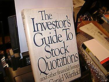 Investor's Guide to Stock Quotations by Warfield, Gerald-ExLibrary