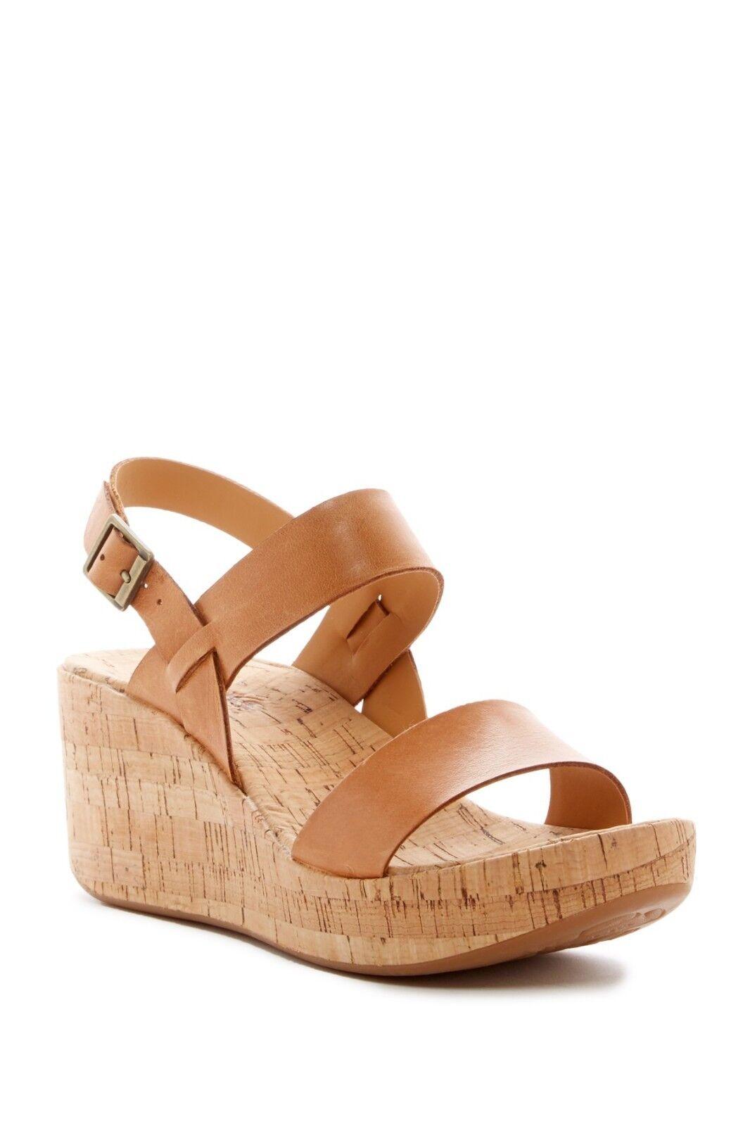 NEW KORKS Tome Platform Brown, Wedge Leather Sandal, Light Brown, Platform Size Women 10 07a427