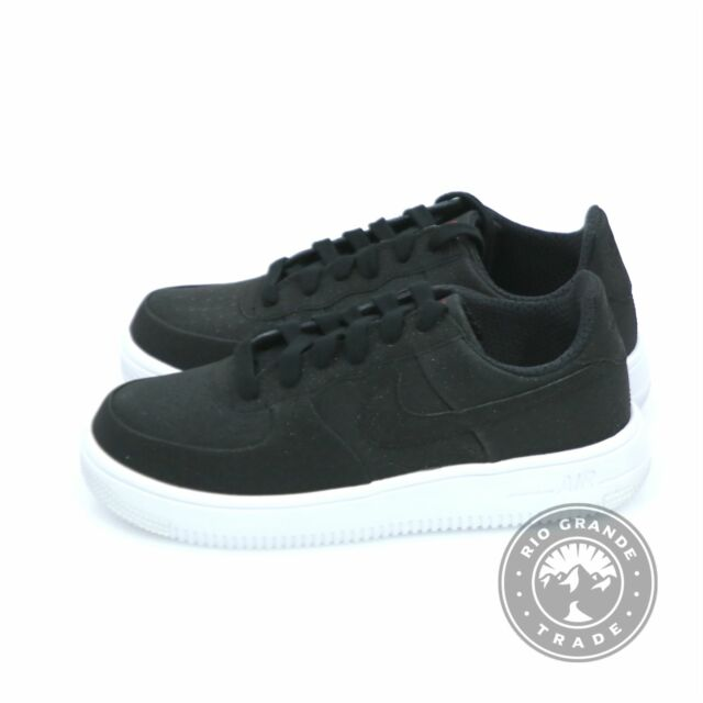testigo más y más Oscurecer  NEW Nike Air Force 1 Ultraforce Prm Gs Sneakers in Black Leather - 6.5  Youth for sale online
