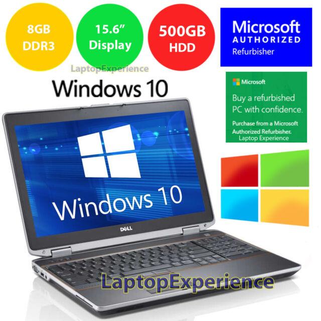 DELL LATiTUDE E5520 LAPTOP WINDOWS 10 WIN DVD INTEL i5 2 5GHz 8GB 500GB HD  HDMI