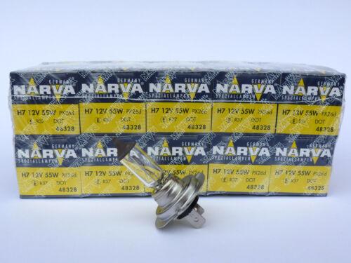 10 x NARVA® Qualität 12V H7 55W Sockel PX26d Halogen Lampen 3,49€//Einheit