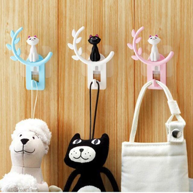 Hanger Door Key Coat Hanging Cartoon Cat Hook Clothe Wall Hat Hook Supplies BL3