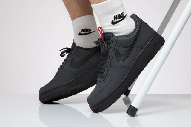 Bq4326 001 Nike Air Force 1'07 Herren Sneaker schwarz grau rot anthrazit Sneaker