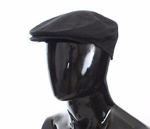 dfadc0eff1c NEW  220 DOLCE   GABBANA Hat Cabbie Newsboy Cap Black Cotton Mens s ...