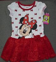 Disney Minnie Mouse Red Lace Tutu Dress Size 5t Brand W/tags