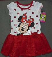 Disney Minnie Mouse Red Lace Tutu Dress Size 5t Brand W/tags