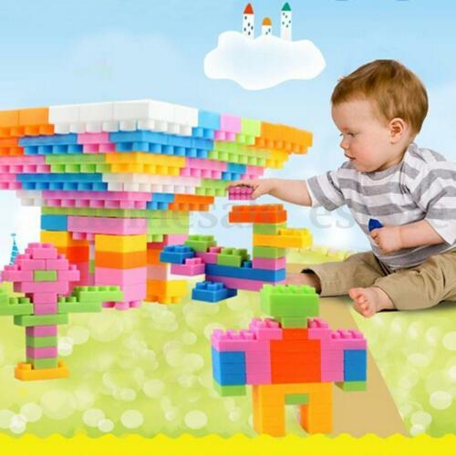 96Pcs Plastic Children Kid Puzzle Educational Building Blocks Bricks Toy Animal