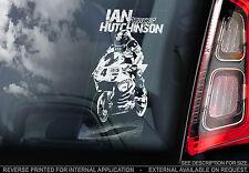 Ian Hutchinson - Car Window Sticker - Motorbike Superbike Isle of Man TT Manx