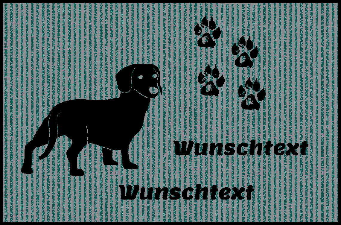 Fußmatte mit Namen Napfunterlage Hundematte  75x50 cm cm cm  Design 17180500  | Kaufen Sie beruhigt und glücklich spielen  72dfdf