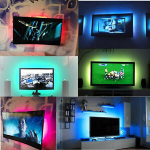 Image is loading LED-TV-Backlight-Bias-Lighting-for-HDTV-USB-  sc 1 st  eBay & LED TV Backlight Bias Lighting for HDTV USB Power LED Strip Accent ... azcodes.com