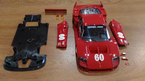 Ferrari F40 Jean Alesi 1989 Laguna Seca 1:32 Fly Incomplete Slot Car Parts