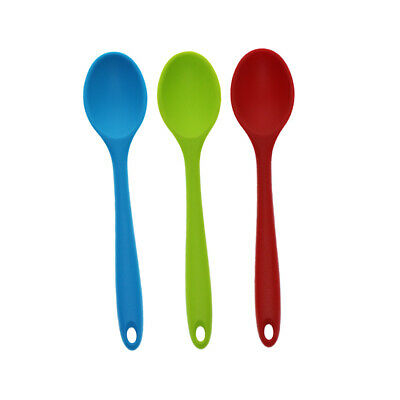 """8/"""" in Hygienic Soup Coffee Milk Teaspoon Red #1 Silicone Ladle Spoon"""