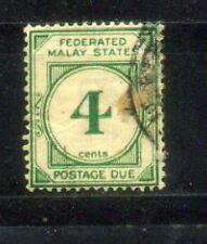 1924 Malaya Federated Malay States Postage Due 4c
