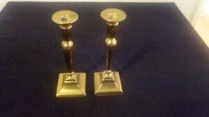 paire-de-chandelier-bougeoir-en-laiton-24-cm