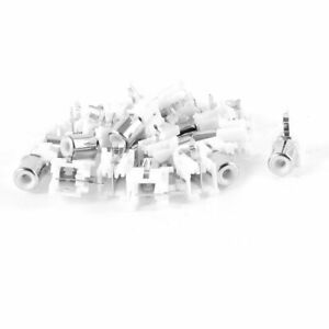 20-Pcs-Audio-Video-Concentric-RCA-Socket-1-Female-Jack-Connector-White
