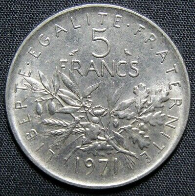 5 francs 1971 coin value