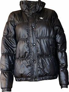 Das Bild wird geladen schwarze-adidas-Damen-Jacke-Padded-Winterjacke-in-Gr- 909b93b7ab