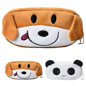 Cute-Cartoon-Kawaii-Pencil-Case-Plush-Large-PEN-BAG-Kids-School-Supplies