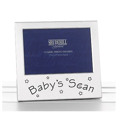Its A Boy Baby Photo Frame Silver