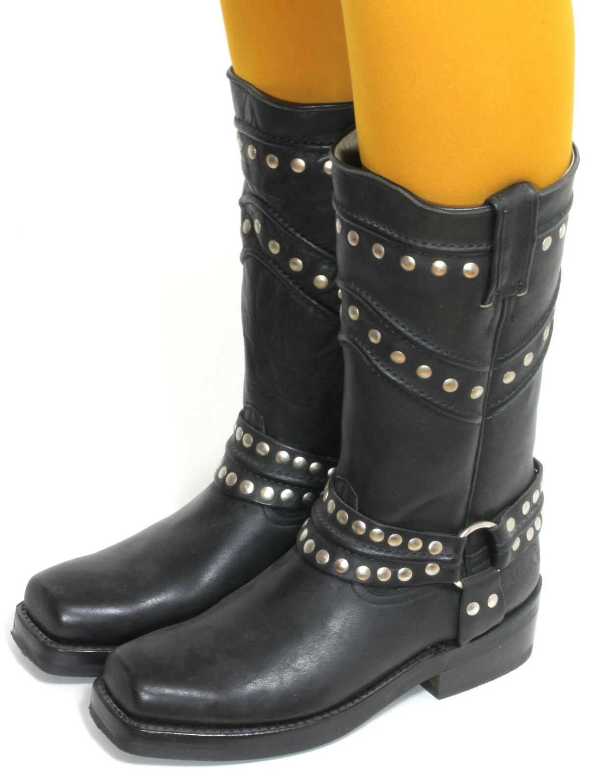 18 Fashion Bikerstiefel Motorradstiefel Chopper Cruiser Stiefel Fashion 18 Jaca 37 2a8093