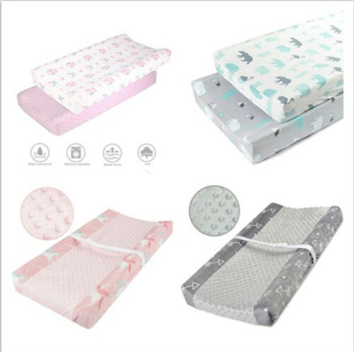 Baby Changing Pad Cover Infant Toddler Waterproof Stretchy Jersey Knit 2 Pack