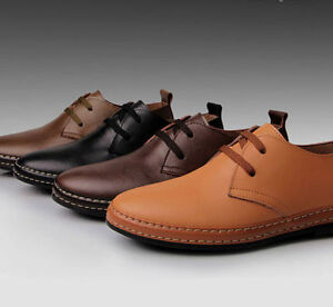 european style genuine leather shoes men's oxfords casual